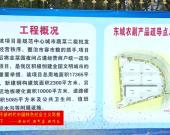 龙岩东城农副产品疏导点工程进展顺利  预计年后可投入使用