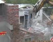 红坊片区依法拆违 助力公路港物流园项目建设