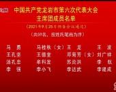 中国共产党龙岩市第六次代表大会主席团成员名单