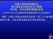 中国人民政治协商会议第五届龙岩市委员会关于撤销邓志强、刘忠全委员资格的决定