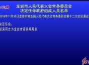 龙岩市人民代表大会常务委员会决定任命政府组成人员名单