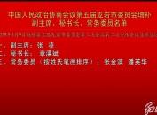 中国人民政治协商会议第五届龙岩市委员会增补副主席、秘书长、常务委员名单