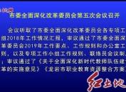 市委全面深化改革委员会第五次会议召开