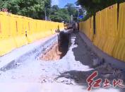 新罗区解放中路拓宽改造工程开工建设计划于12月底完成改造