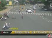 两摩托车相撞 武平交警紧急救援