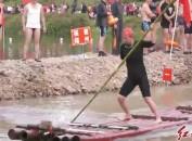 长汀举办畅游汀江活动暨竹排竞速接力比赛