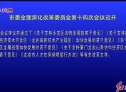 市委全面深化改革委员会第十四次会议召开