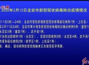 2020年2月12日龙岩市新型冠状病毒肺炎疫情情况