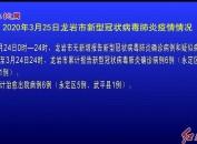 2020年3月25日龙岩市新型冠状病毒肺炎疫情情况