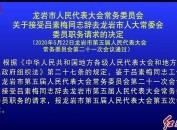 龍巖市人民代表大會常務委員會關于接受呂素梅同志辭去龍巖市人大常委會委員職務請求的決定