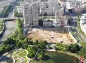 记者踩盘:石锣鼓湿地公园旁的天悦莲园工程进展