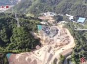 航拍建设中的龙岩东环高速