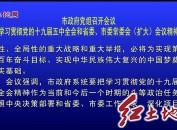 市政府党组召开会议 学习贯彻党的十九届五中全会和省委、市委常委会(扩大)会议精神