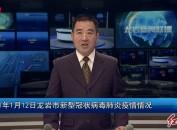 2021年1月12日龙岩市新型冠状病毒肺炎疫情情况气
