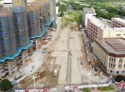 陈陂南路火热施工当中 预计将于9月投放使用