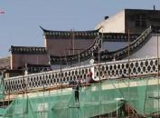 """长汀:全力推进""""一江两岸""""立面改造工程建设 再现千年古城韵味"""