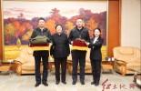 王奇才将军亲属来中央苏区(闽西)历史博物馆参观并捐赠文物