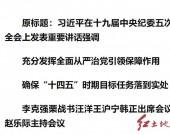 """习近平:充分发挥全面从严治党引领保障作用 确保""""十四五""""时期目标任务落到实处"""