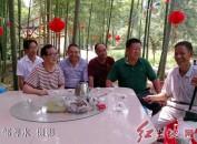 """福建连城文亨鲤江村""""坑尾山""""竹林山庄成老人乐园"""