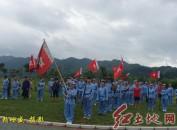 福建龙岩义工到革命基点村重走红军路