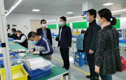 龙岩市永定区委常委、统战部部长王小庆调研非公企业复工复产工作